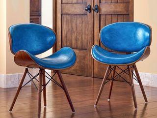 Corvus Madonna Mid century Teal Accent Chair  Retail 248 49