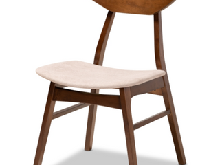 Braxton Studio Danica latte Walnut Dining Chair and Hardware