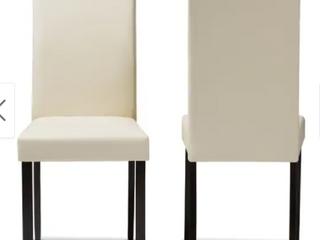 Contemporary Cream Dining Chair 2 Piece Set by Baxton Studio  Retail 137 27