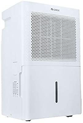 Gree Chalet 50Pint Portable Dehumidifiers for Basements Home up to 1500 Sq Ft  Dehumidifiers for Basement  Continuous Gravity Drain  Casters and Washable Filter with Wheels  Quiet White