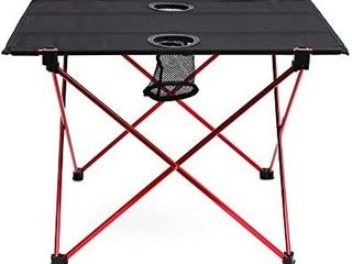 Outry lightweight Folding Table with Cup Holders  Portable Camp Table