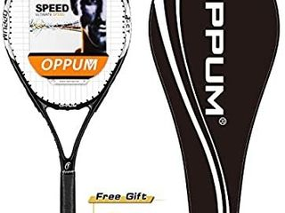 OPPUM Adult Carbon Fiber Tennis Racket  Super light Weight Tennis Racquets Shock Proof and Throw Proof Include Tennis Bag Tennis Overgrip