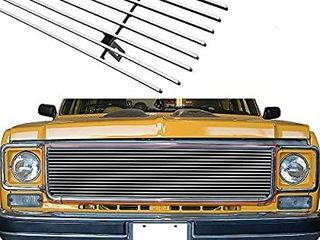 APS Compatible with 73 80 Chevy C K Pickup Suburban Blazer Main Upper Billet Grille C85008A
