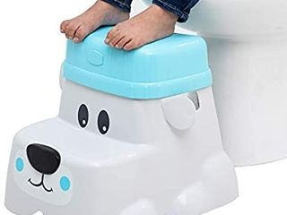 Squatty Potty Kids Step Stool with locking Riser for Additional Height   Bear Cub Style