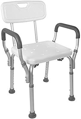 Vaunn Medical Tool Free Assembly Spa Bathtub Shower lift Chair  Portable Bath Seat  Adjustable Shower Bench  White Bathtub lift Chair with Arms