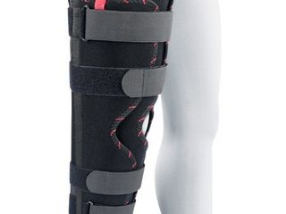 ORTONYX Adjustable Tri Panel Straight leg Support Knee Immobilizer Brace