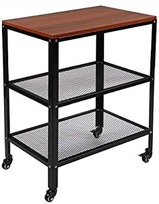 TUFFIOM 3 Tier Kitchen Microwave Cart  Rolling Kitchen Utility Cart