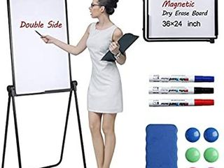 Scool Stand White Board  Double Sided Magnetic Dry Erase Board Portable Whiteboard