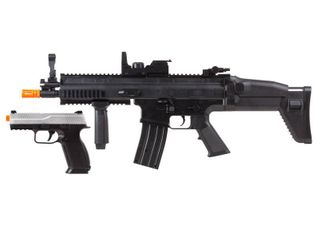 Fn Herstal Scar l Aeg Rifle   Fns 9 Spring Pistol Toy Airsoft Kit Black