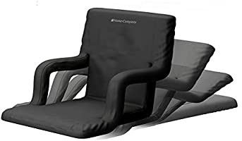Home Complete Stadium Seat Chair  Wide Bleacher Cushions with Padded Back Support 6 Reclining Positions
