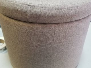 Gray storage ottoman 14  wide 16 inches tall