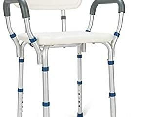 GreenChief Heavy Duty Shower Chair with Arms and Back   Tool Free   Bathtub Seat with Handles