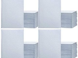 4  9 5  x 14 5  Pure White Color SElF Seal Poly Bubble MAIlERS Padded Shipping ENVElOPES 25 each