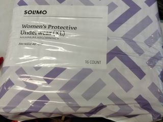 Brand   Solimo Incontinence Underwear For Women Maximum Absorbency Extra large  16 count