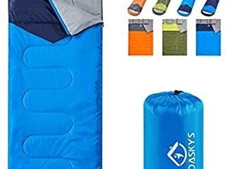 oaskys Camping Sleeping Bag   3 Season Warm   Cool Weather   Summer  Spring  Fall  lightweight  Waterproof for Adults   Kids   Camping Gear Equipment  Traveling  and Outdoors