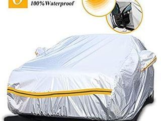 Autsop Car Cover Waterproof All Weather 6 layers Car Cover for Automobiles Outdoor Full Cover Sun Hail UV Dust Protection with Zipper    Unknown size