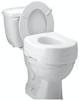 Carex Toilet Seat Riser   Adds 5 Inch of Height to Toilet   Raised Toilet Seat With 300 Pound Weight Capacity   Slip Resistant
