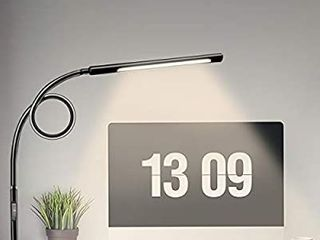 Swing Arm lamp  Hokone lED Desk lamp with Clamp  12W Eye Care Dimmable light  Timer  Memory  6 Color Modes
