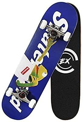 THMEX Pro Skateboards Completes Skateboard Skateboards and for Beginners 7 layer Canadian Maple Double Kick Concave Standard and Tricks Skateboards for Kids   Beginners and Adults