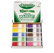 Crayola Non Washable Classpack Markers  Fine Point  10 Colors  Pack of 200