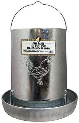 Harris Farms 4218 Hanging Metal Poultry Feeder  30 Pound