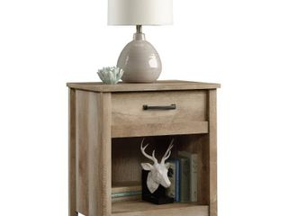 Cannery Bridge Nightstand with Drawer and Storage Shelf   lintel Oak   Sauder