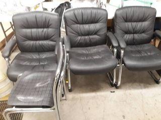5 Black Chairs