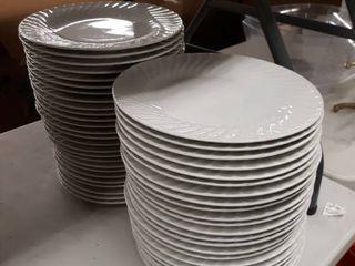 White Round Dinner Plates