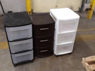 3 Plastic Storage Organizers