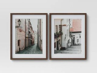 Set of 2  16  x 20  City Photography Framed Print   Threshold   see back is not perfect