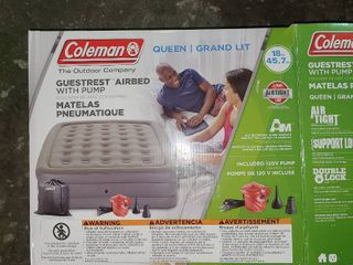 Coleman Queen Airbender with pump   not tested