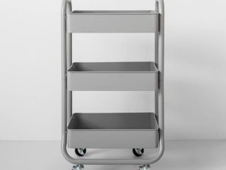Three Tier Metal Utility Cart Gray   Made By Design