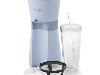 Mr  Coffee Iced Coffee Maker with Reusable Tumbler and Coffee Filter   Gray