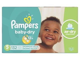 Pampers Baby Dry Extra Protection Diapers  Size 5  132 Ct