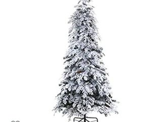 Nearly Natural 7ft  Flocked Montana Down Swept Spruce Artificial Christmas Tree with Pinecones and 400 lED lights   missing connecting wires