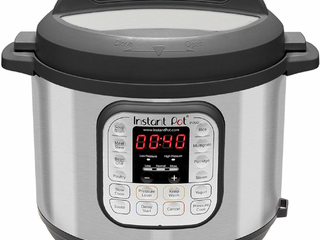 Used  Instant Pot Duo 80 8 Qt Pressure Cooker  Silver