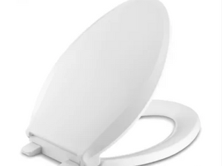 Kohler Cachet Q3 Elongated Closed Front Toilet Seat with Quiet Close Technology  Quick Attach Hinges and Grip Tight Bumpers
