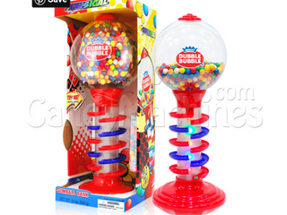 Dubble Bubble 21 Inch light and Sound Spiral Fun Gumball Machine   Damaged Dented