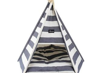 WANTRYAPET Pet Teepee Tents Small Dogs Puppy Cat Bed   Washable Puppy Bed   Pet Houses with Comfortable Cushion  Indoor Outdoor 32 Inch Tall