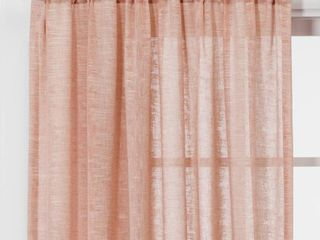 Set of 2 Panels   84 x54  Richter Clipped Sheer Curtain Panels Coral  Pink    Project 62