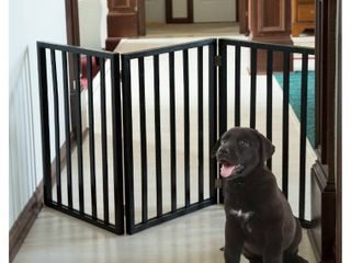 UniPaw Freestanding Wooden Dog Gate  see photos scratches