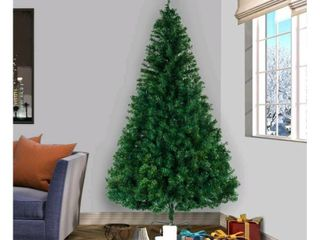 5 8ft Artificial Christmas Tree with Stand for Indoor and Outdoor Holiday Decoration   tested and works
