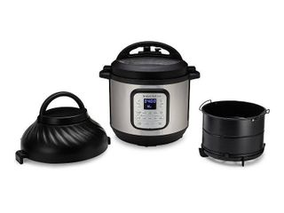 Instant Pot 8qt Duo Crisp Combo Electric Pressure Cooker Air Fryer   Stainless Steel   sealed