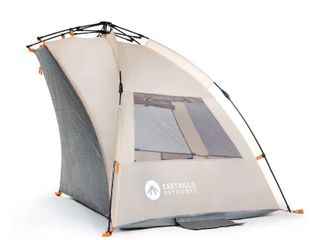 Easthills Outdoors Instant Shader Extended Easy Up Beach Tent Sun Shelter a Extended Zippered Porch Included