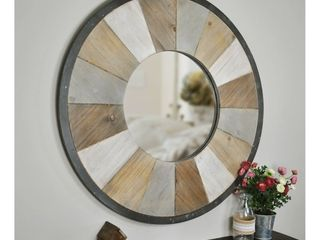 31 5  x 1  x 31 5  Adler Rustic Farmhouse Wood Mirror Natural Wood   FirsTime   Co