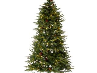 Glitzhome Pre lit Green Fir Artificial Christmas Tree with lED Warm lights and Remote Controller  Retail 241 99   tested