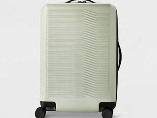 Hardside 21  Carry On Spinner Suitcase Sage Green   Open Story