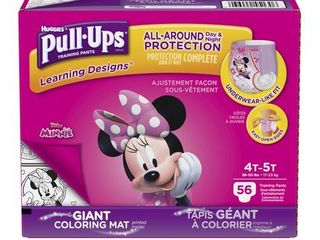 Huggies Pull Ups Girls learning Designs Training Pants Giga Pack 4T 5T  56 Count  Multi Colored