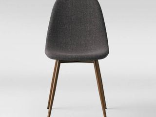 2pc Copley Upholstered Dining Chair Dark Gray   Project 62