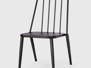 Windsor Metal Stack Patio Club Chair Black   Project 62